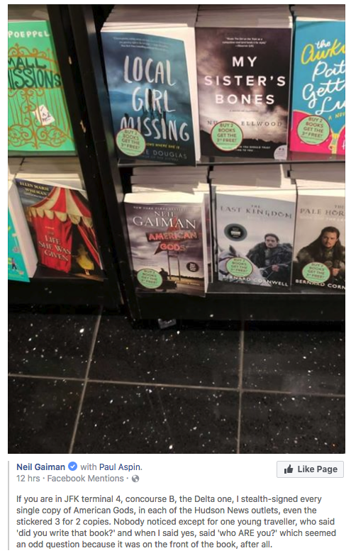 american-gods-author-secretly-signs-copy-of-books-at-JFK-airport